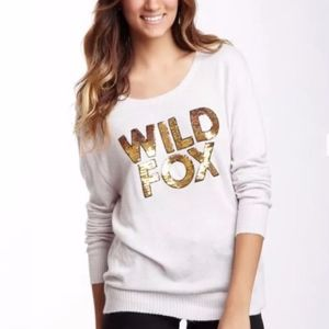 Wild Fox Sequins Sweater Jumper